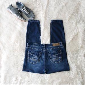 Seven7 legging jeans embroidered pockets